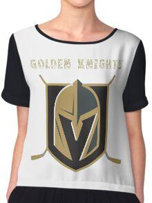 A Golden Vegas Sports Shirt Knight Emblem Epic T-Shirt Chiffon Top