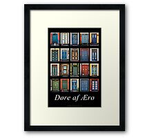 Doors of Aero Framed Print
