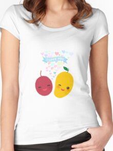 Happy Birthday Lychee and Mango Women's Fitted Scoop T-Shirt