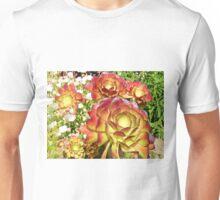 GIANT RED & ORANGE CACTUS FLOWERS Unisex T-Shirt