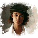 Keira Knightley fanart digital painting  by Thubakabra