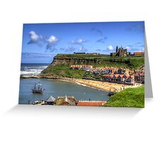 The Endeavour in Whitby Harbour Greeting Card