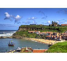 The Endeavour in Whitby Harbour Photographic Print