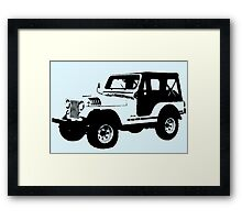 Teen Wolf - Stiles' Jeep Framed Print