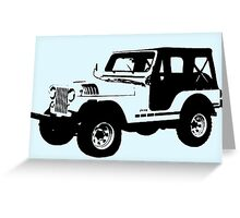 Teen Wolf - Stiles' Jeep Greeting Card