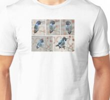 COLLAGE OF MALE HUMMINGBIRD COSTA'S ON YUCCA REED Unisex T-Shirt