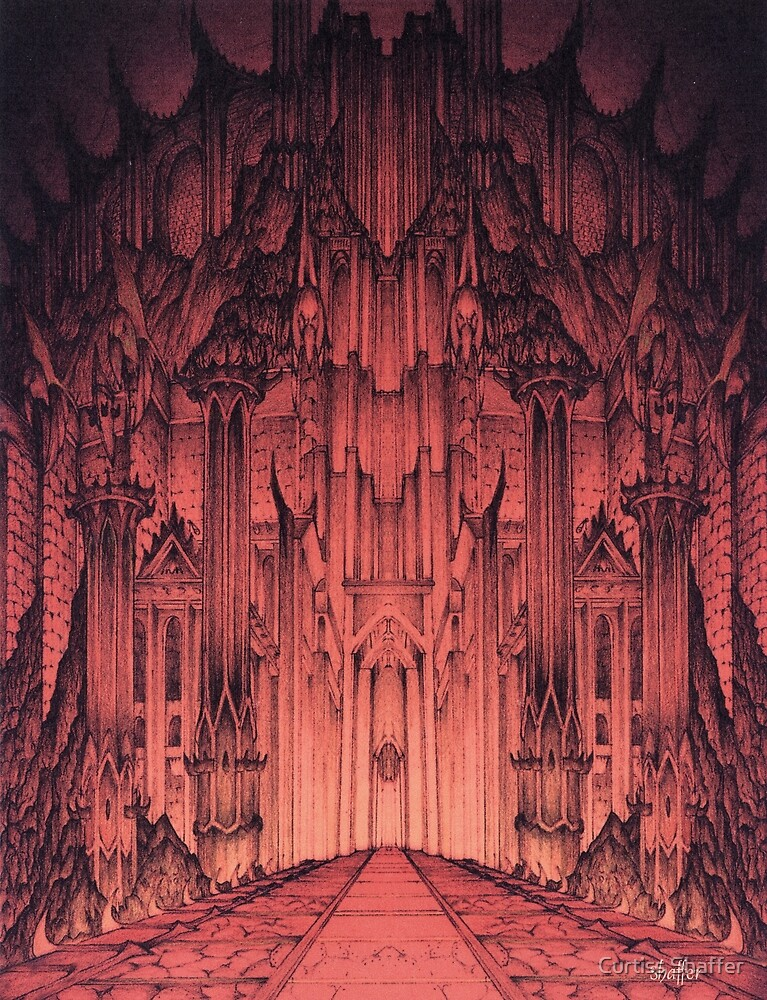 The Gates of Barad Dûr by Curtiss Shaffer