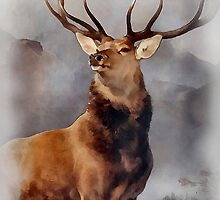 MONARCH OF THE GLEN, Digital Painting of this famous Stag by verypeculiar