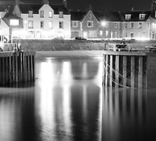 Stonehaven harbour at night by Matthew Gordon