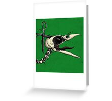 Scissor Crow Greeting Card
