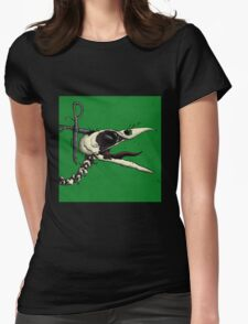 Scissor Crow Womens Fitted T-Shirt