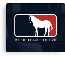 Major League of Evil Canvas Print