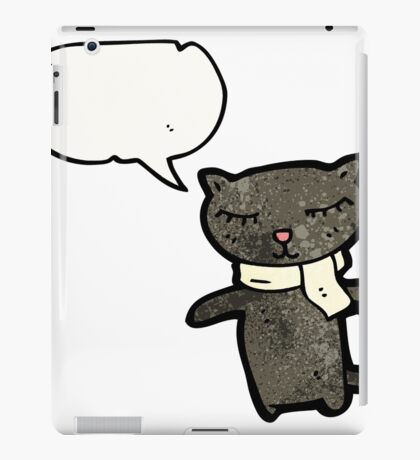 cartoon black cat iPad Case/Skin