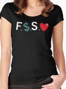 J.Cole / Fuck Money Spread Love Women's Fitted Scoop T-Shirt