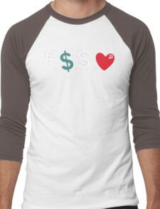 J.Cole / Fuck Money Spread Love Men's Baseball ¾ T-Shirt