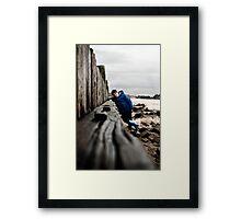 Nathan at Lossiemouth beach Framed Print
