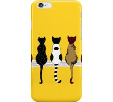 Fence sitters (Gold) iPhone Case/Skin