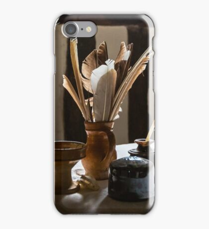 Feather Quill and ink bottles iPhone Case/Skin
