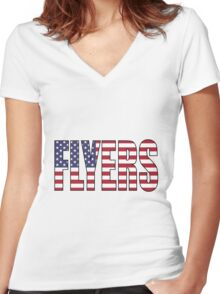 Flyers Women's Fitted V-Neck T-Shirt