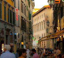 Florence street scene by Matthew Gordon