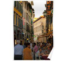 Florence street scene Poster