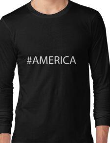 #America White Long Sleeve T-Shirt