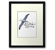 Weight Of Living Albatross Framed Print