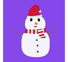 Chirstmas Snowman with winterscarf Photographic Print