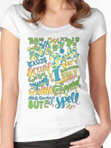 Voodoo Doll Lyrics Women's Fitted Scoop T-Shirt