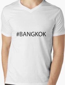 #Bangkok Black Mens V-Neck T-Shirt