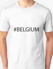 #Belgium Black Unisex T-Shirt