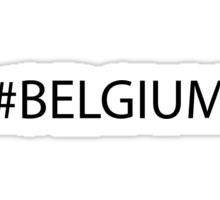 #Belgium Black Sticker