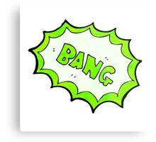 comic book bang symbol Metal Print