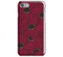 Pink flower repeat crazy illustration  iPhone Case/Skin