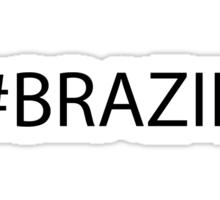 #Brazil Black Sticker