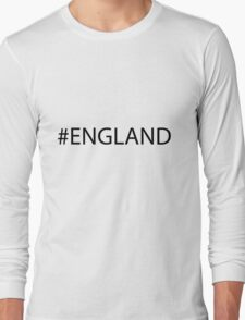 #England Black Long Sleeve T-Shirt
