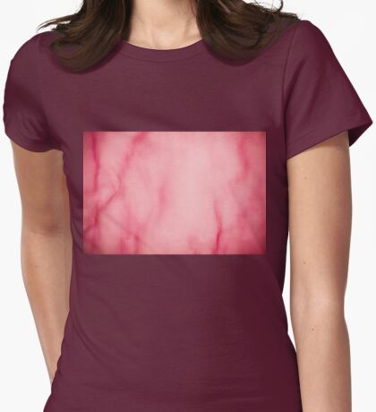 Red organza texture abstract Womens Fitted T-Shirt