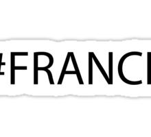 #France Black Sticker