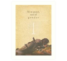 LOTR- Aragorn and Boromir Art Print