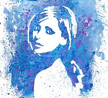 Buffy Sarah Michelle Gellar Watercolor Portrait by BovaArt