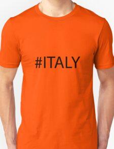 #Italy Black T-Shirt