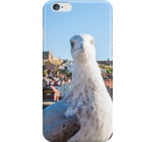 Scenic view of Whitby city and abbey with seagull  iPhone Case/Skin