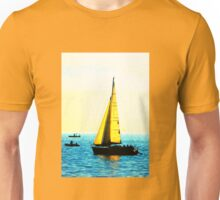 Sailing Boat on Lake Constance Unisex T-Shirt