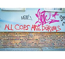 All Cops Photographic Print