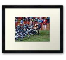 Mike in Transition Framed Print