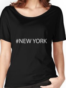 #New York White Women's Relaxed Fit T-Shirt