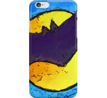 Halloween bat and moon trick or treat iPhone Case/Skin