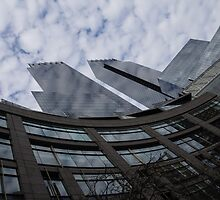 Hugging Columbus Circle - Curved New York Skyscrapers by Georgia Mizuleva