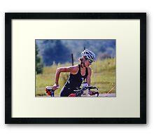 Kelly and Bike, 2014.08.17 Framed Print