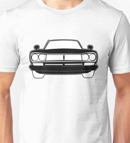 1970 Datsun GTR Skyline JDM Design   Stickers & Apparel - Black Unisex T-Shirt